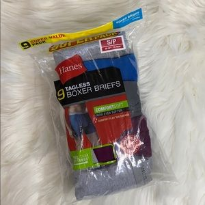 Men's Hanes Tagless Boxer Briefs (9) Small 28-30""